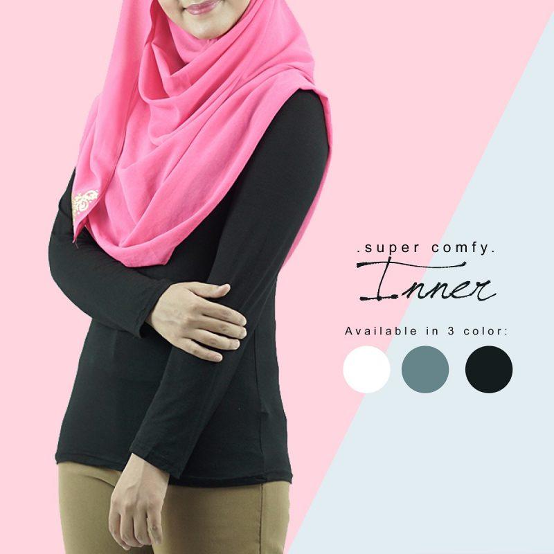 Fesyen Rasa Sayang, inner muslimah, Inna Inner Muslimah Black Color