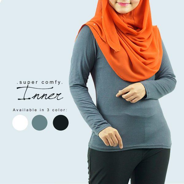 Fesyen Rasa Sayang, inner muslimah, Inna Inner Muslimah Grey Color