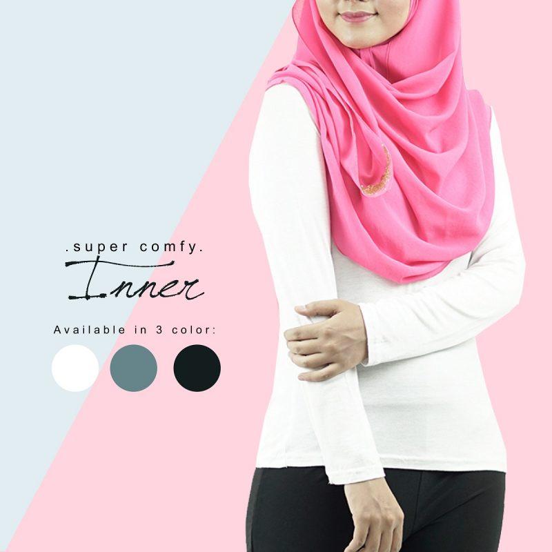 Fesyen Rasa Sayang, inner muslimah, Inna Inner Muslimah White Color