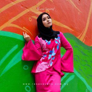 Blouse Muslimah Magenta Color, Fesyen Rasa Sayang