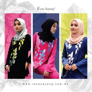 Nova Blouse Muslimah with Mya Plain Skirt Set, Fesyen Rasa Sayang