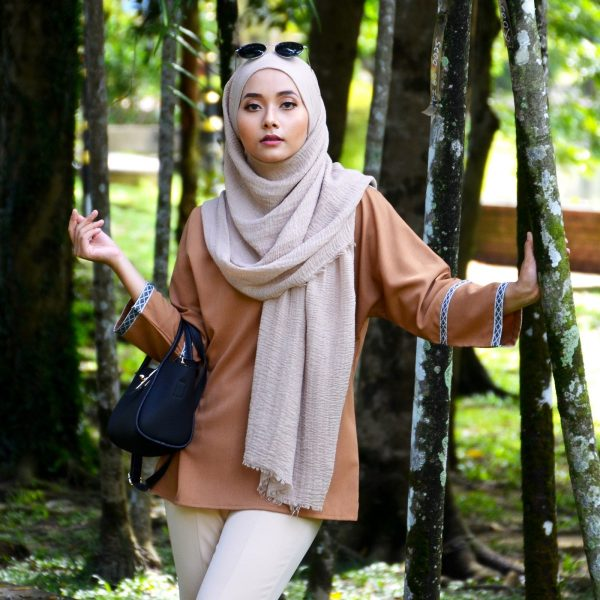 Fesyen Rasa Sayang, blouse muslimah malaysia, Berry Blouse Muslimah Mustard Color