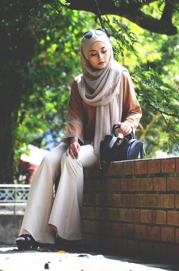 Fesyen Rasa Sayang, blouse muslimah malaysia, Berry Blouse Muslimah Mustard Color Outdoor