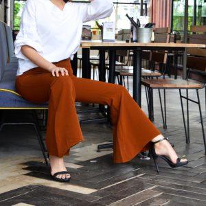 Fesyen Rasa Sayang, pants muslimah, Aubrey Pants Brown Color