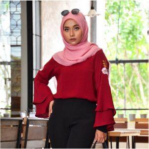 Malance Blouse Muslimah, Fesyen Rasa Sayang, Muslimah Blouse