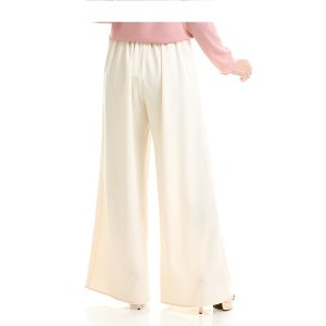 Echo Palazzo Pant Cream White Back View