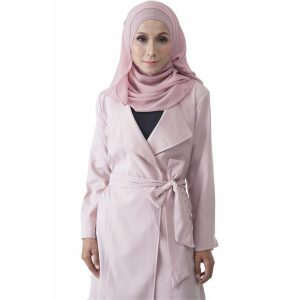 Fesyen Rasa Sayang, outerwear for women, Berlee Waterfall Collar Cardigan Baby Pink Color, Outerwear, Fesyen Rasa Sayang, Cardigan