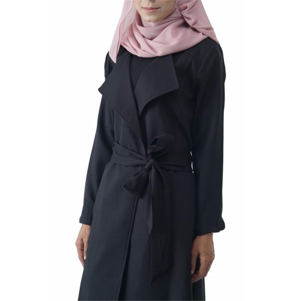 Fesyen Rasa Sayang, outerwear for women, Berlee Waterfall Collar Cardigan Baby Pink Color, Outerwear, Fesyen Rasa Sayang, Cardigan