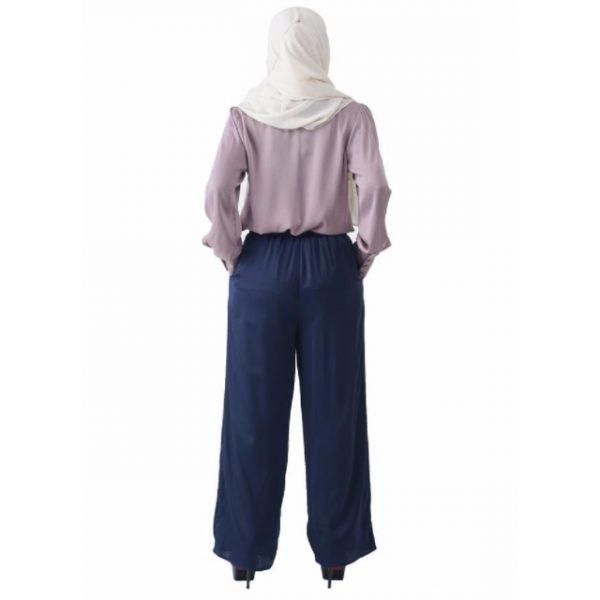 Fesyen Rasa Sayang, blouse muslimah online, Christa Blouse Muslimah Light Purple Color Back