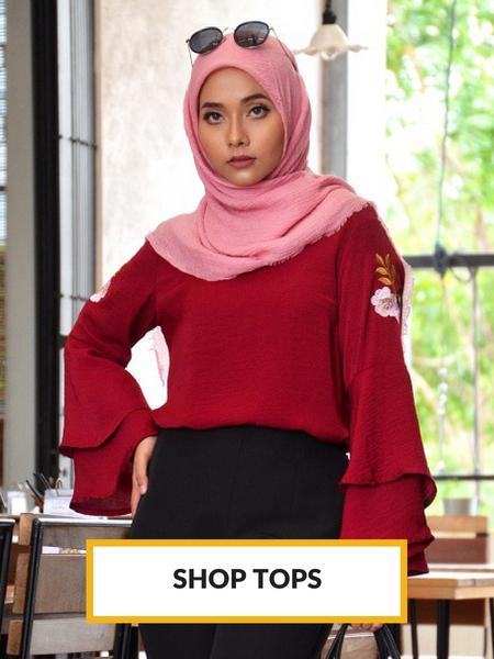 Fesyen Rasa Sayang, Tops, Muslimah Tops Fashion