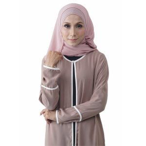 Fesyen Rasa Sayang, outerwear for women, Hannah Chiffon Cardigan Warm Beige Color Close