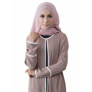 Fesyen Rasa Sayang, outerwear for women, Hannah Chiffon Cardigan Warm Beige Color Close