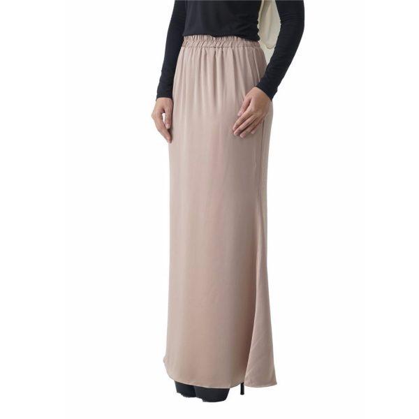 Fesyen Rasa Sayang, skirts muslimah online malaysia, Leena Skirt Cream Color Close