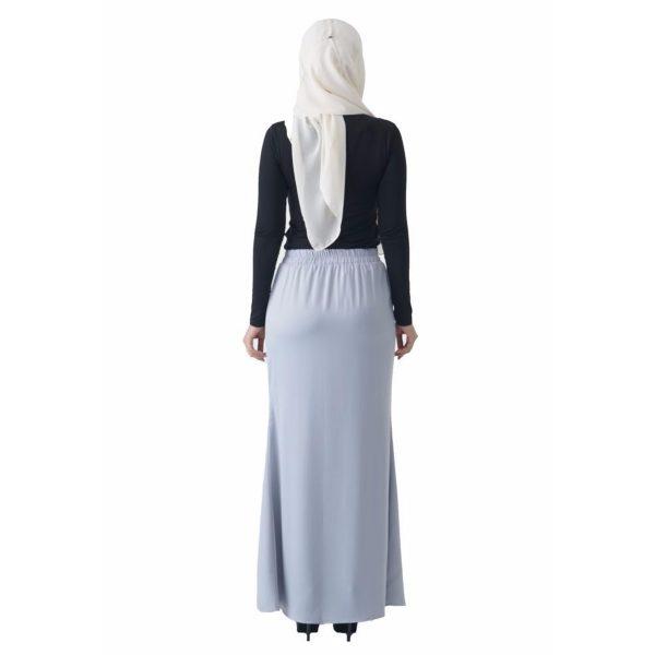 Fesyen Rasa Sayang, skirts muslimah online malaysia, Leena Skirt Pastel Blue Color Back