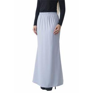 Fesyen Rasa Sayang, skirts muslimah online malaysia, Leena Skirt Pastel Blue Color Close