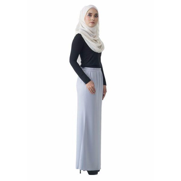 Fesyen Rasa Sayang, skirts muslimah online malaysia, Leena Skirt Pastel Blue Color Side