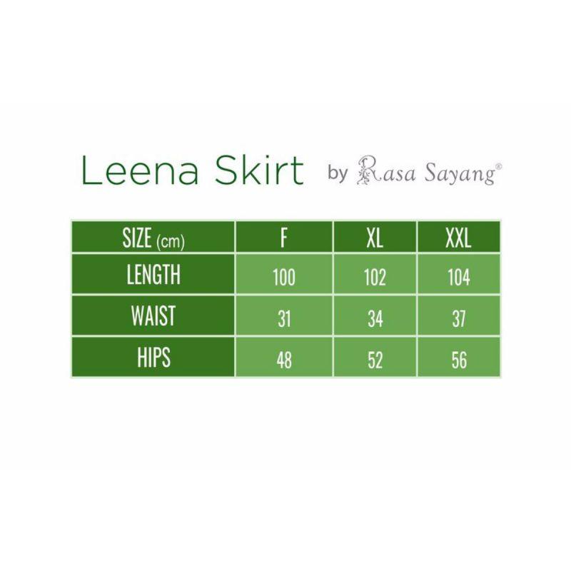 Leena Skirt Size Chart