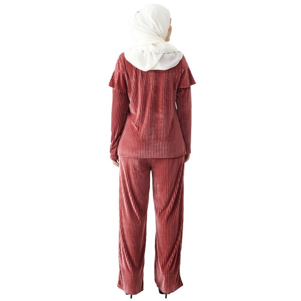 Margaret Set Indian Red Color Back