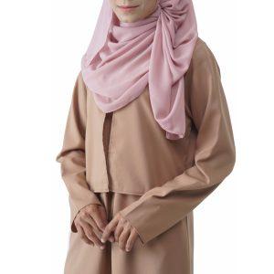 Fesyen Rasa Sayang, blouse muslimah online, Mastini Blouse Muslimah Light Khaki Color Close