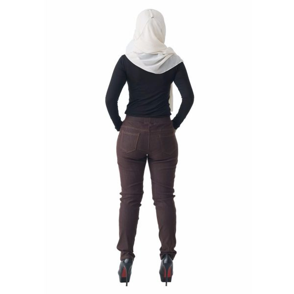 Fesyen Rasa Sayang, long pants, Rico Jeans Long Pants Brown Color Back