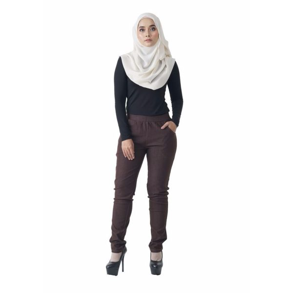 Fesyen Rasa Sayang, long pants, Rico Jeans Long Pants Brown Color Front