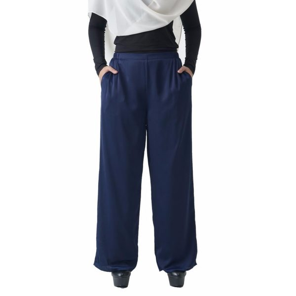 Fesyen Rasa Sayang, long pants fashion malaysia, Rose Pants Dark Blue Color Close