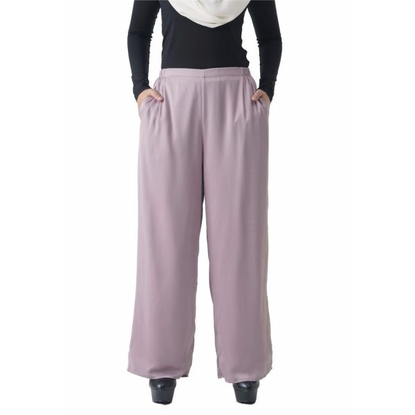 Fesyen Rasa Sayang, long pants fashion malaysia, Rose Pants Light Purple Color Close