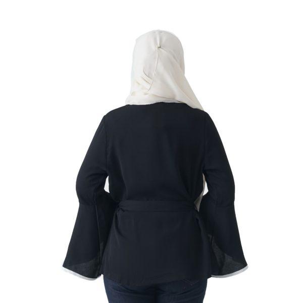 Jelita Kimono Cardigan Black Color Back