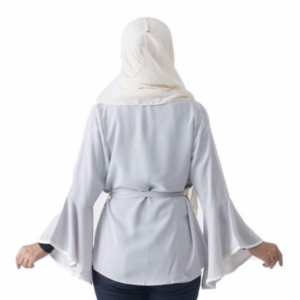 Jelita Kimono Cardigan White Color Back