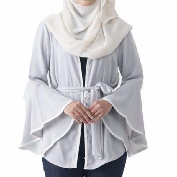 Jelita Kimono Cardigan White Color Front