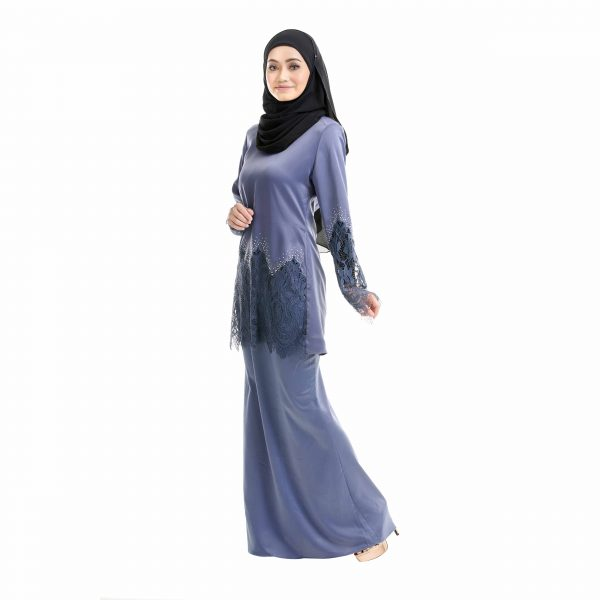 Aimi Kurung Aegen Blue Left Side