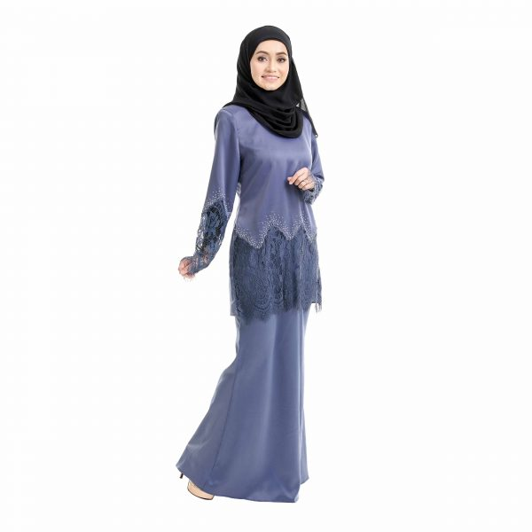 Aimi Kurung Aegen Blue Right Side