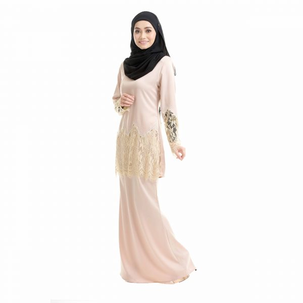 Aimi Kurung Cream Left Side