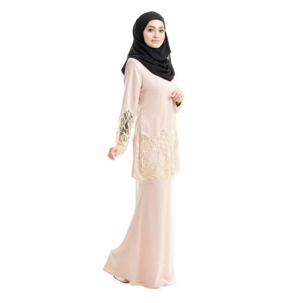 Aimi Kurung Cream Right Side