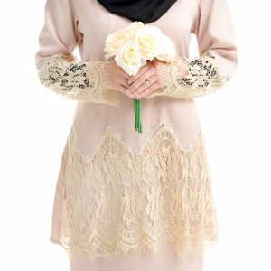 Aimi Kurung Cream With Flower