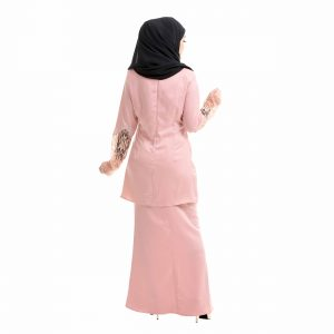 Aimi Kurung Salmon Peach Back