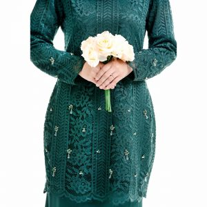 Brenda Kurung Emerald Green With Flower