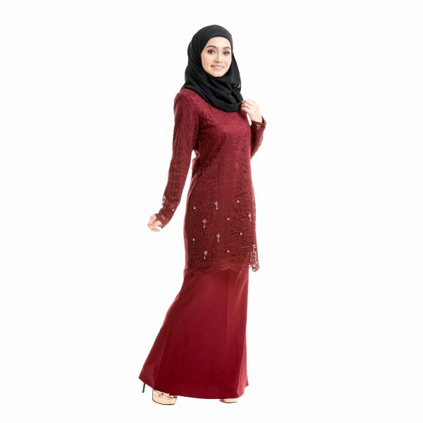 Brenda Kurung Love Maroon Right Side