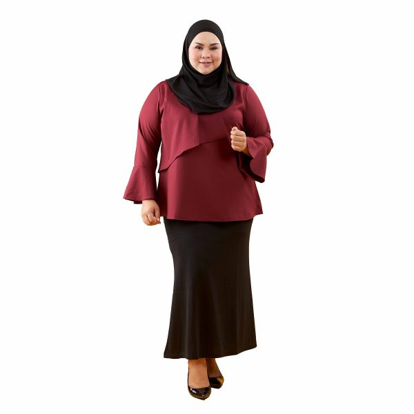 Dawish Blouse Jam Maroon Color Front