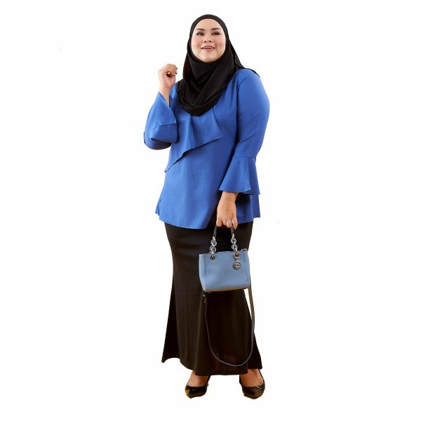 Dawish Blouse Royal Blue Color Front