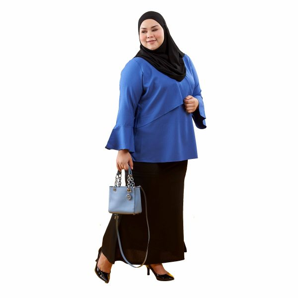 Dawish Blouse Royal Blue Color Side