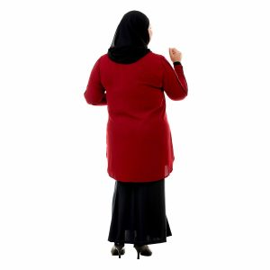 Helly Blouse Garnet Maroon Color Back