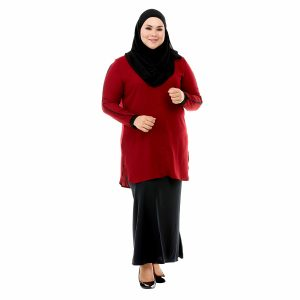 Helly Blouse Garnet Maroon Color Front