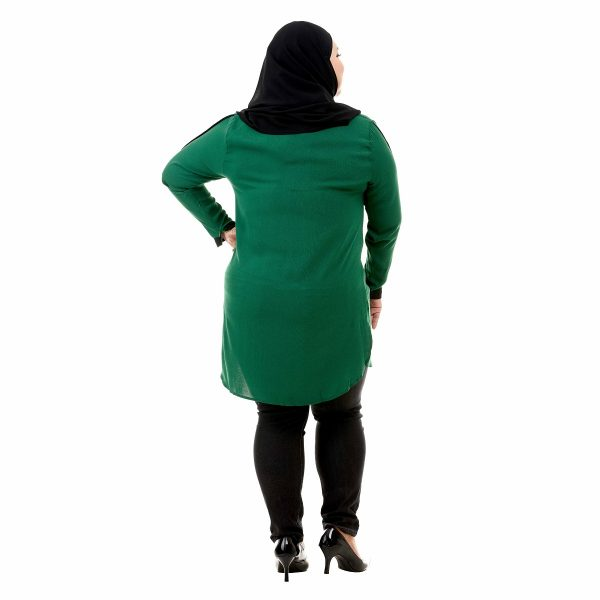 Helly Blouse Pine Green Color Back