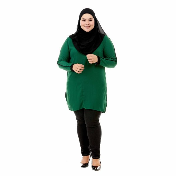 Helly Blouse Pine Green Color Front