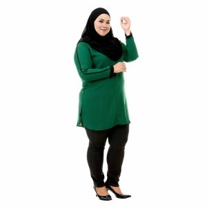 Helly Blouse Pine Green Color Side