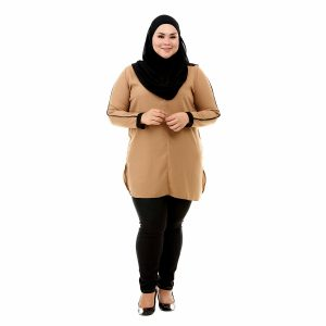 Helly Blouse Peanut Brown Color Front