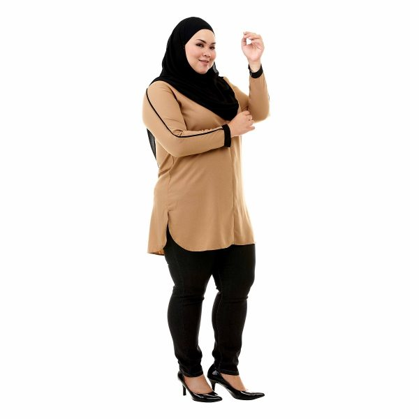 Helly Blouse Peanut Brown Color Side