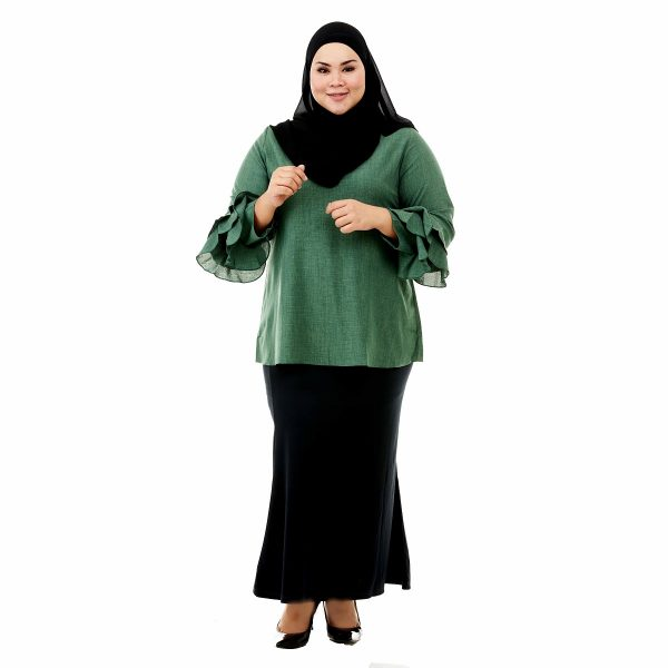 Lessa Blouse Pickle Green Color Front