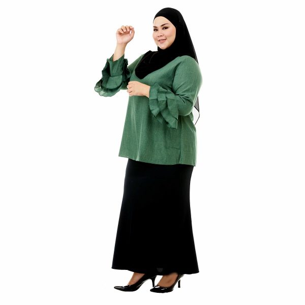 Lessa Blouse Pickle Green Color Side